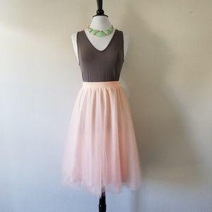 👗Charlotte Russe Light Pink Tulle Skirt 2X (NWOT)
